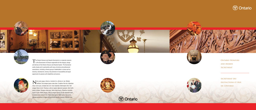 Ontario Honours and Awards Secretariat kit