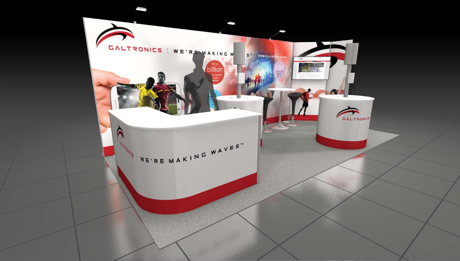 Galtronics trade show booth