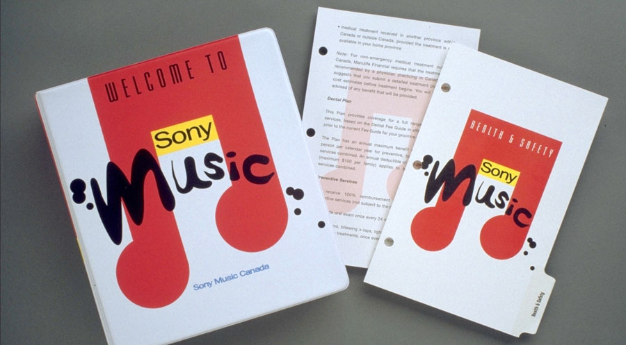 Sony Music welcome kit