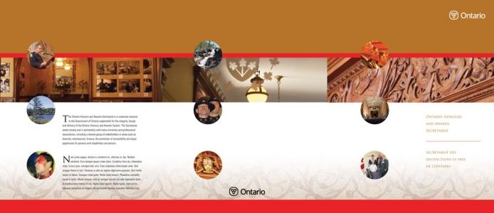 Ontario Honours and Awards Secretariat kit