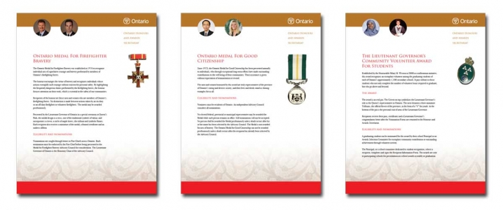 Ontario Honours and Awards Secretariat: Inserts
