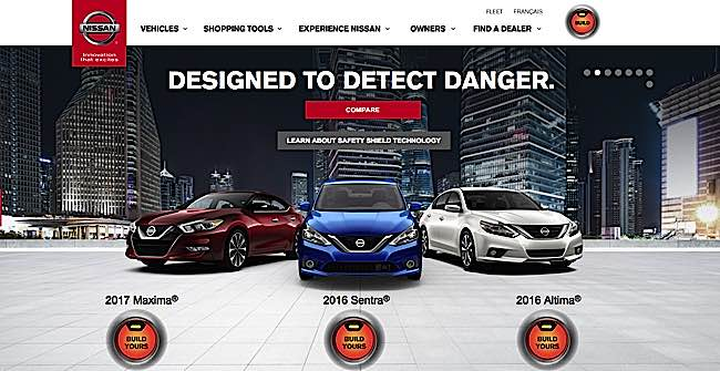 "Nissan is Simpatico, emphasizing ""causes"" such as safety, as demonstrated in this ""Designed to Detect Danger"" campaign."